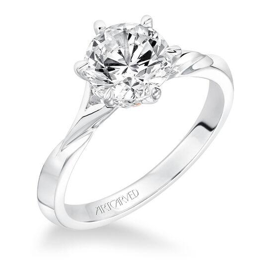 ArtCarved Diamond Semi-Mount Engagement Ring 14K