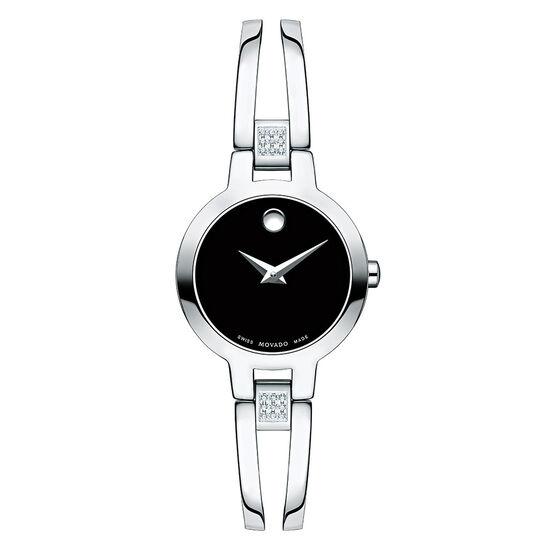 Movado Amorosa Double Bar Diamond Bangle Watch