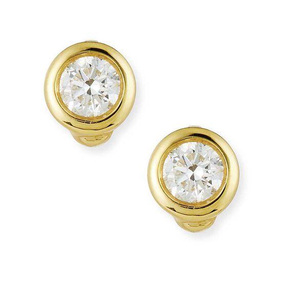 Roberto Coin Tiny Treasures Diamond Stud Earrings 18K