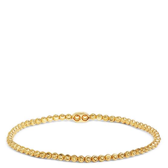 Sparkly Moon Cut Bead Bracelet 14K