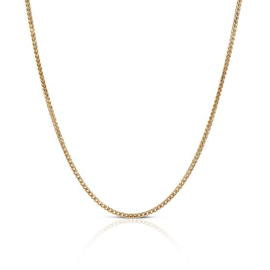 "Rose Gold Diamond Cut Franco Chain 14K, 18"""