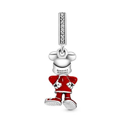 Pandora Disney Mickey Mouse Chinese New Year Enamel & CZ Dangle Charm