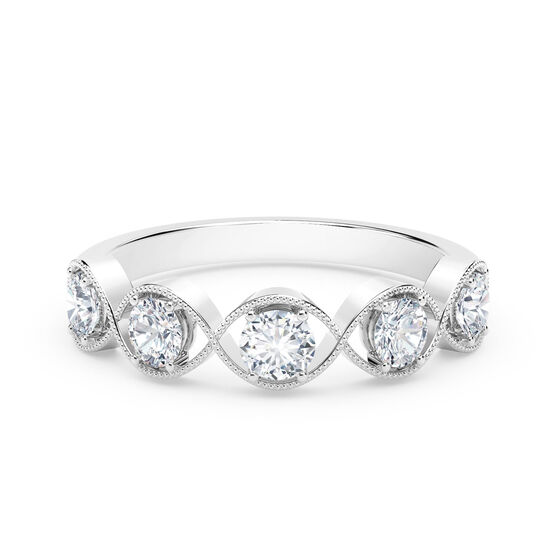 The Forevermark Tribute™ Collection Braided Five Stone Diamond Ring 18K