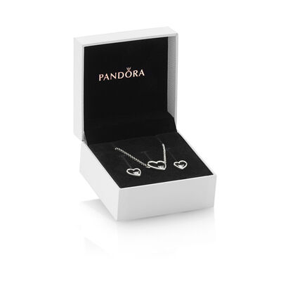 PANDORA Shape of my Heart Jewelry Gift Set, Necklace & Earrings