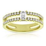 Forevermark Emerald Cut Diamond Ring 18K