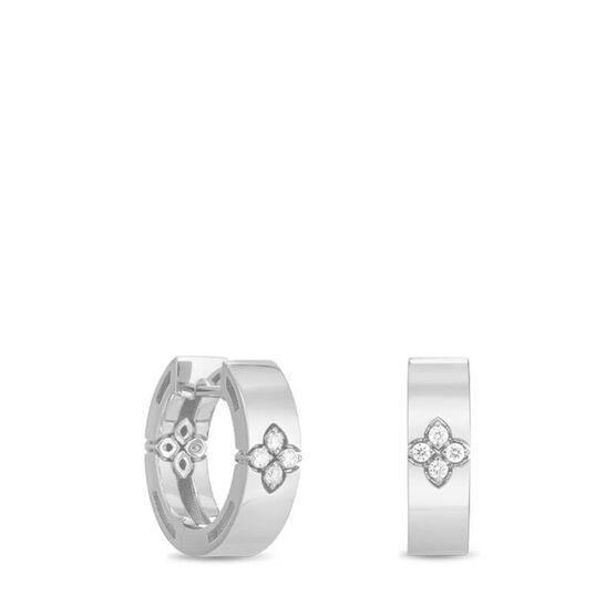 Roberto Coin Love In Verona Diamond Hoops Earrings 18K