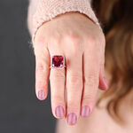 Rose Gold Pink Tourmaline & Diamond Ring 18K