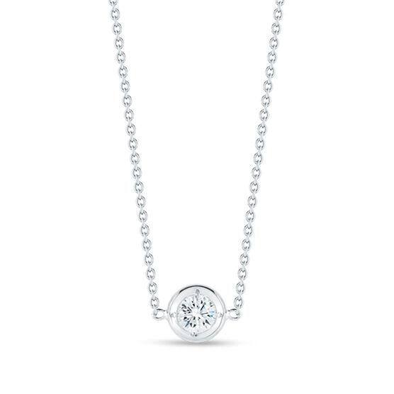 Roberto Coin Diamonds by the Inch Single Station Diamond Necklace 18K