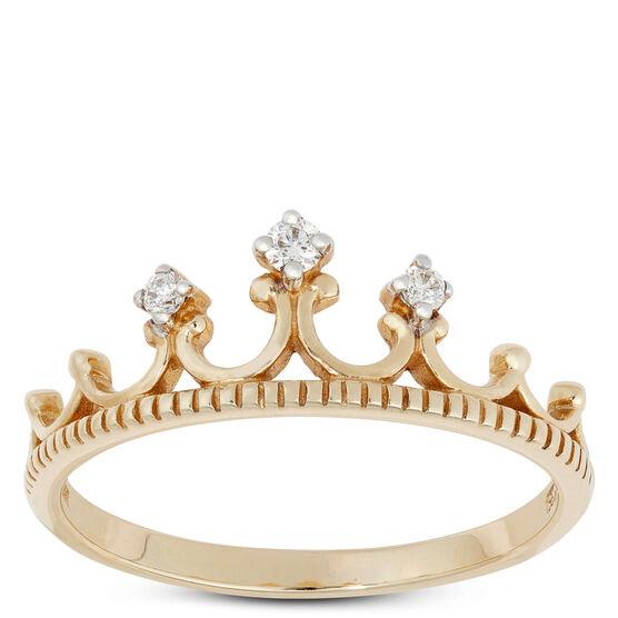 Diamond Crown Ring 14K