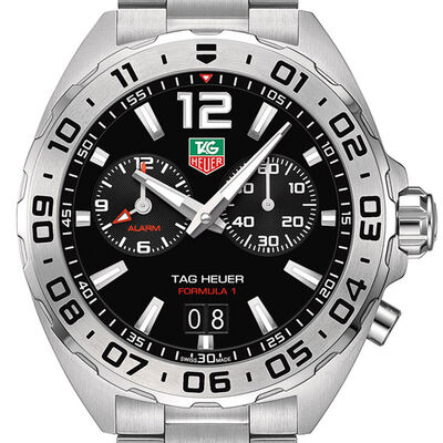 TAG Heuer Formula 1 Quartz Mens Black Steel Alarm Watch