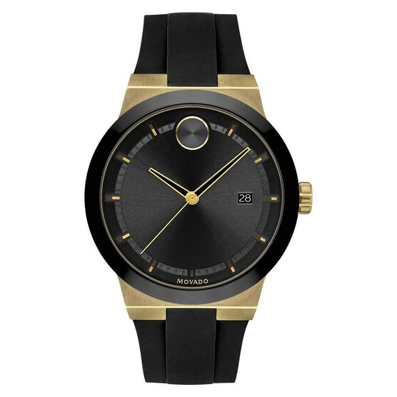 Movado Bold Yellow Ion & Black Ceramic Watch