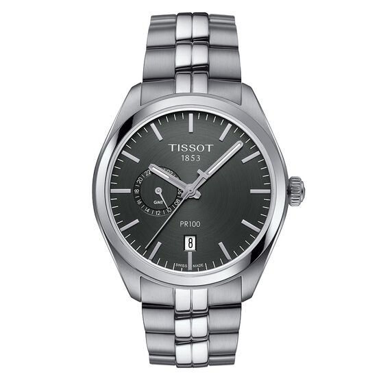 Tissot PR 100 Dual Time T-Classic GMT Quartz Watch
