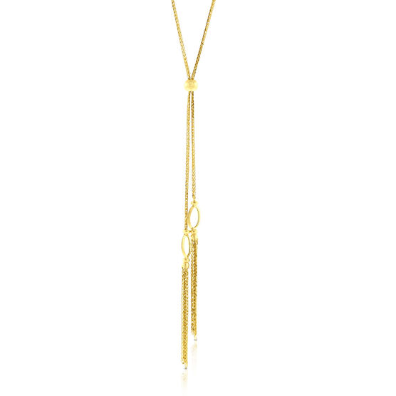 "Tassel Necklace 24"" 14K"