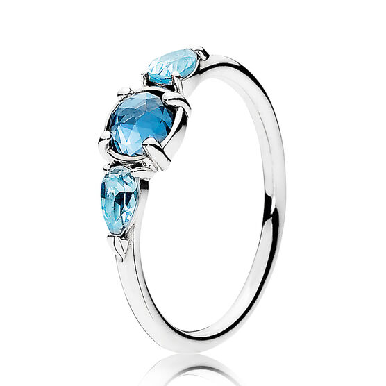 PANDORA Patterns of Frost Crystal Ring