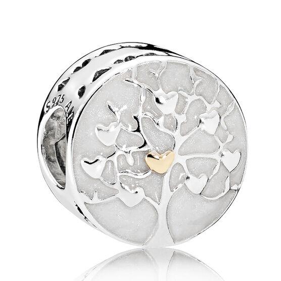 PANDORA Tree of Hearts Charm, Silver & 14K