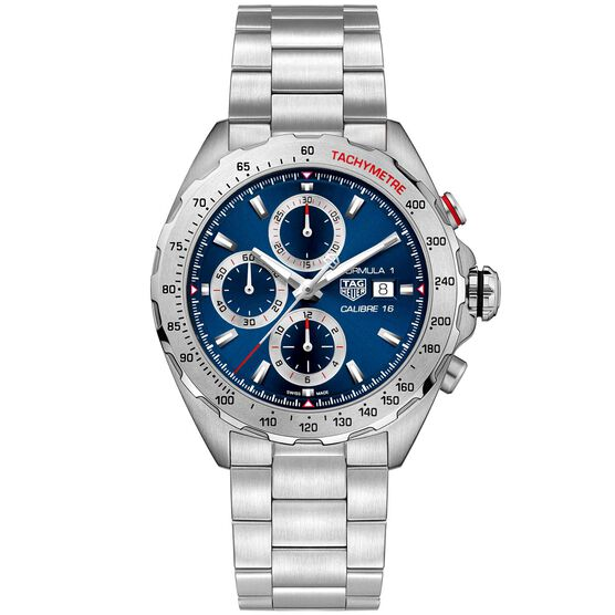 TAG Heuer Formula 1 Calibre 16 Automatic Mens Blue Steel Chronograph Watch