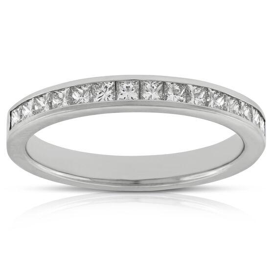 Princess Cut Diamond Band in Platinum