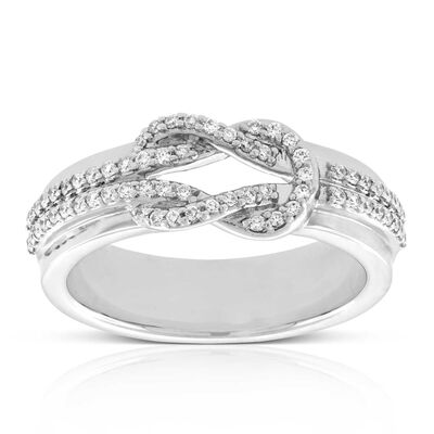 Knot Diamond Ring 15K