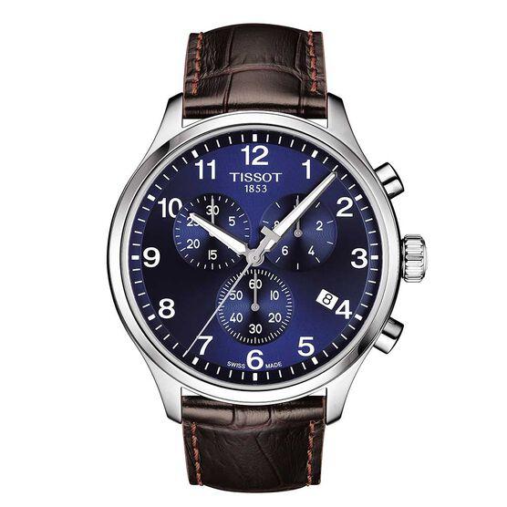 Tissot Chrono XL Classic Brown Strap Watch, 45mm
