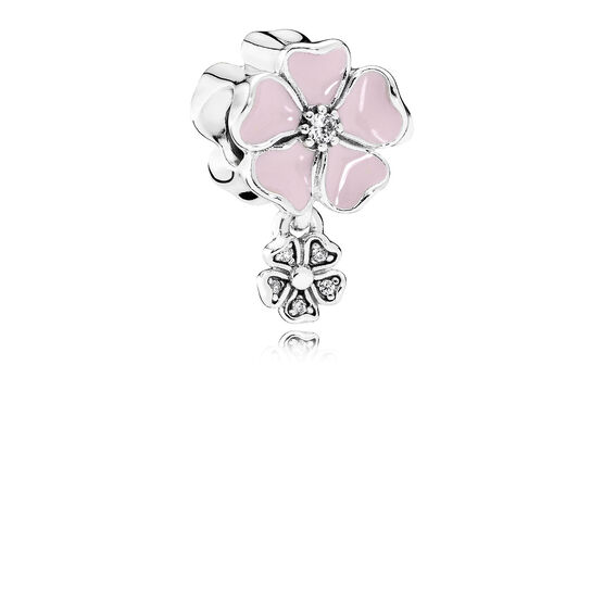 PANDORA Pink Poetic Blooms Dangle Charm