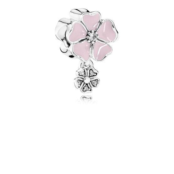 PANDORA Pink Poetic Blooms Dangle Charm