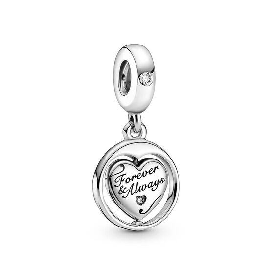 Pandora Spinning Forever & Always Soulmate CZ Dangle Charm