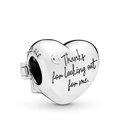 Pandora Window Heart Enamel Charm