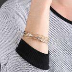 Toscano Two-Tone Cuff Bracelet 14K