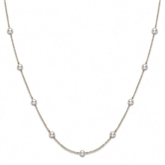 Mikimoto Akoya Cultured Pearl Station Necklace 18K