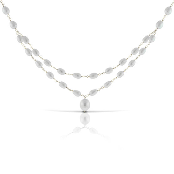 Cultured Pearl Necklace 14K