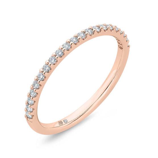 Bella Ponte Rose Gold Diamond Band 14K, 1/5 ctw.