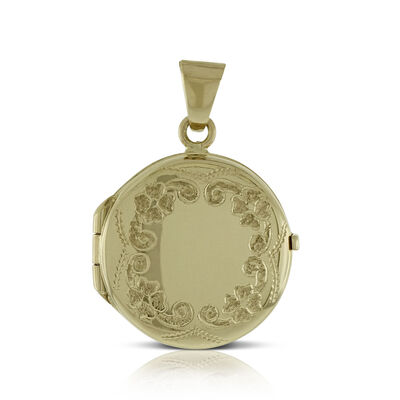 gold urban lockets product b metallic natalie round necklace jewelry in locket lyst outfitters