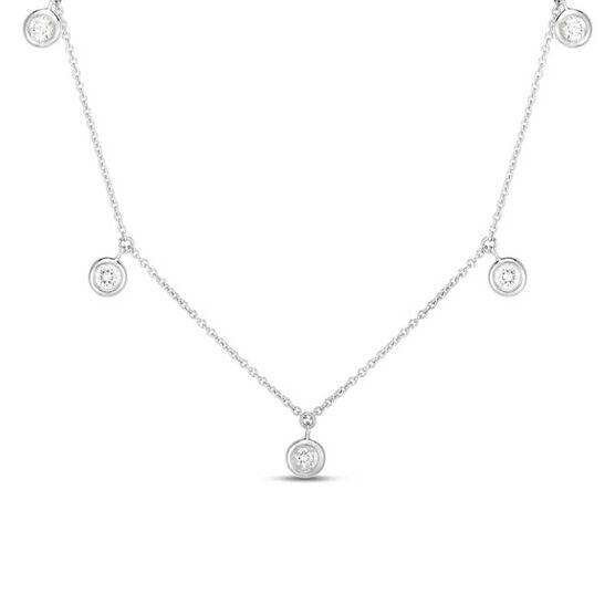 Roberto Coin Five Station Diamond Necklace 18K