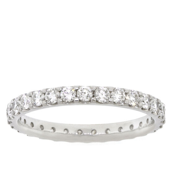 Diamond Eternity Band 14K, 1 ctw.