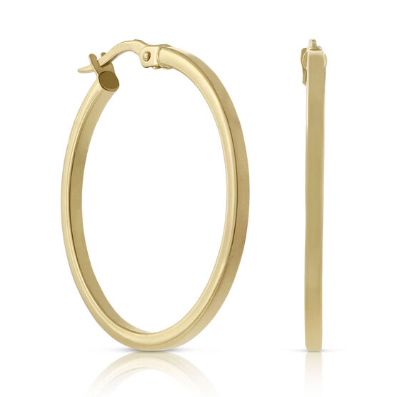 Toscano Polished Hoop Earrings 18K