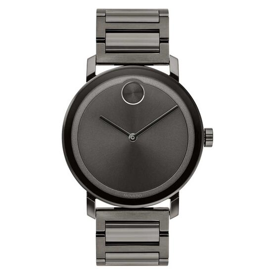 Movado Bold Gunmetal Ion Watch