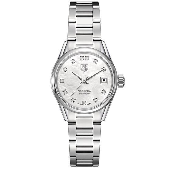 TAG Heuer Carrera Calibre 9 Diamond Watch, 28mm