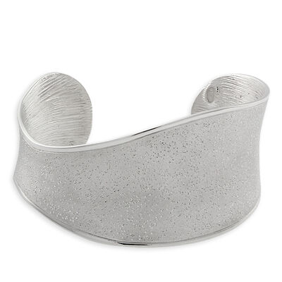 Concave Wide Cuff in Sterling Silver