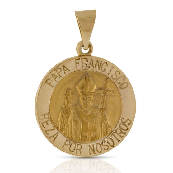 Papa Francisco Medal Pendant 14K