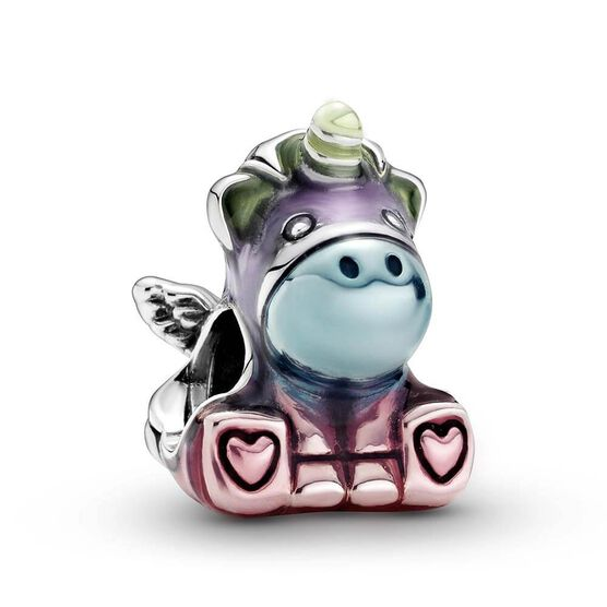 Pandora Friends Colorful Rainbow Bruno the Unicorn Charm