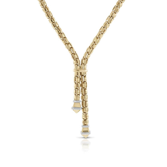 Toscano Link by Link Lariat Necklace 14K