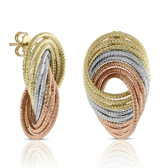 Toscano Arabesque Swirl Earrings 14K