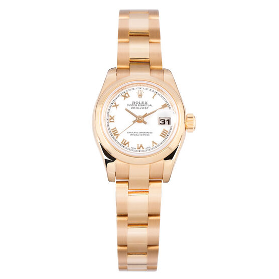 Pre-Owned Rolex Oyster Perpetual Lady-Datejust Watch, 26mm, 18K Everose