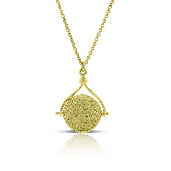 Hammered Disc Pendant 14K