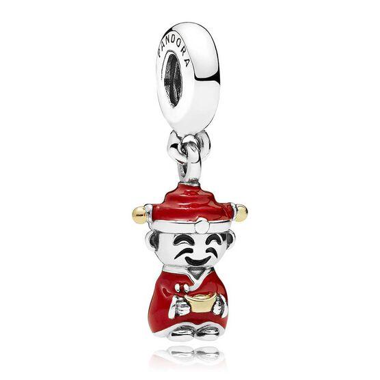 PANDORA Fortune & Luck Dangle Enamel Charm, Silver & 14K