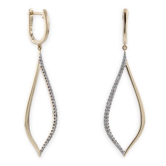 Open Dangle Diamond Earrings 14K