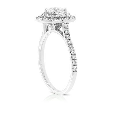 Signature Forevermark Double Halo Diamond Ring 18K