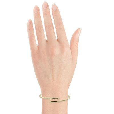 Gold Bypass Bangle Bracelet 14K