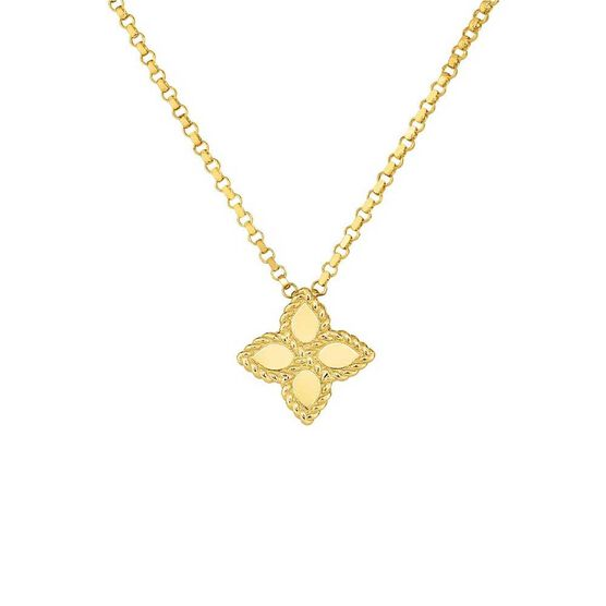 Roberto Coin Princess Flower Necklace 18K