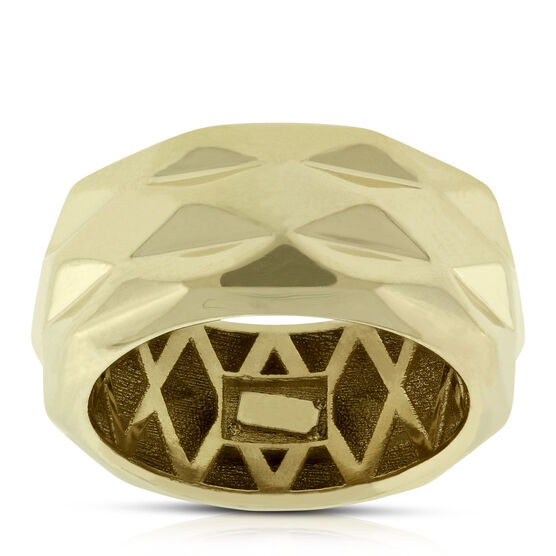 Toscano Faceted Band 14K